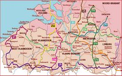 Long Distance Cycling Routes in Belgium - National Routes Flanders